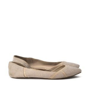 Aldo | gold silver sparkly flat shoes